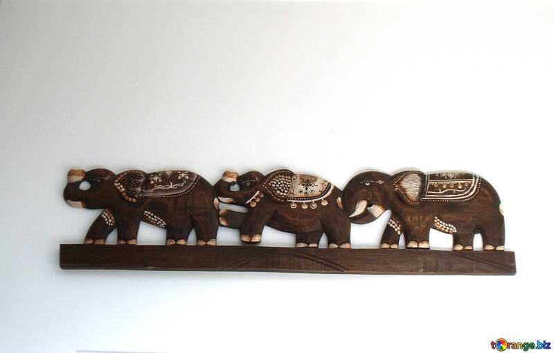 Carved pattern on wood decorative decoration elephants ...