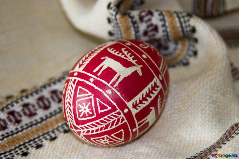 Easter  Egg  with  deer №9720