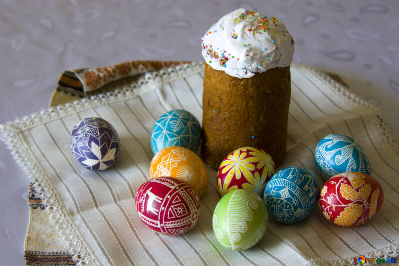 Easter  Eggs  and  cake №9699