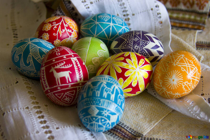 Painted  eggs №9678