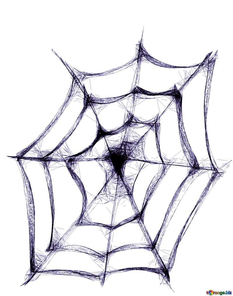 Cyan color. Clipart for Halloween Spider Web. №40484