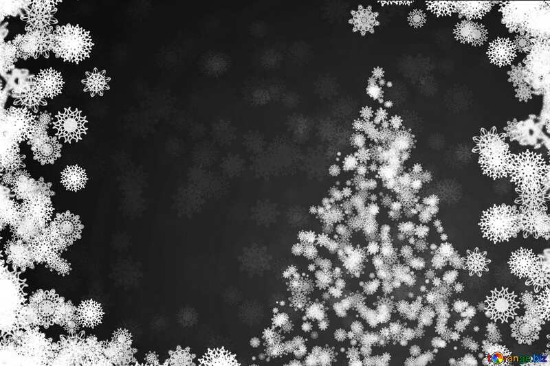 Christmas gray  background black and  white №40729