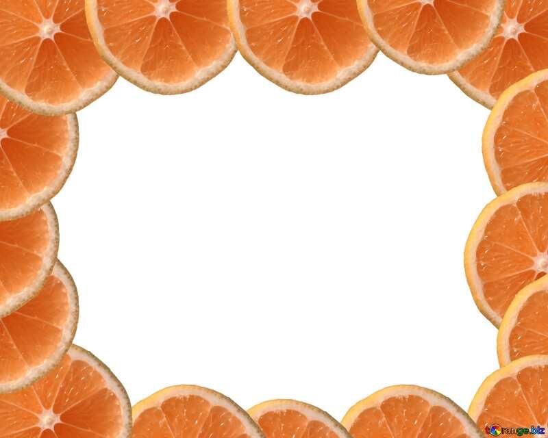 Colore arancione. Limone di telaio. №40849