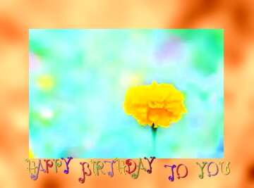 The effect of contrast. Very Vivid Colours. Grey Fuzzy Border. Happy Birthday card.