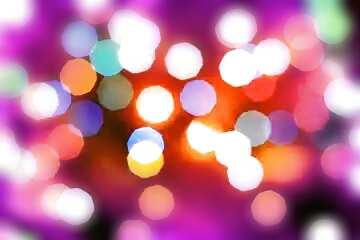 Die Wirkung von Licht. Unschärfe Rahmen.