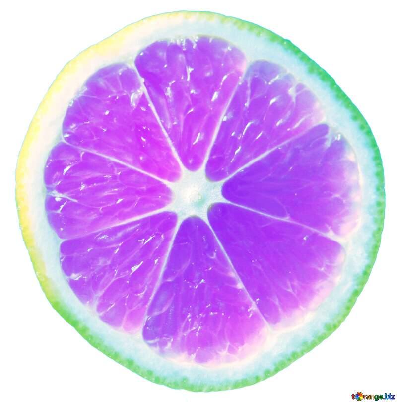 A close up of a fruit purple sliced citrus №40830