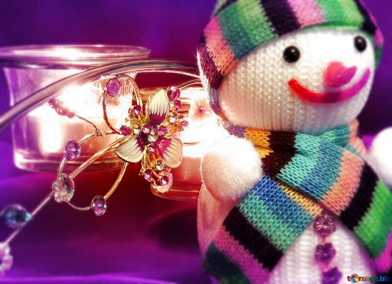 Merry Christmas frame snowman background №15971