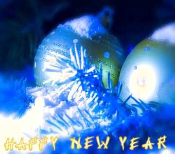 L'effetto della luce. I colori molto vivaci. telaio sfocatura. Frammento. Card with text Happy New Year.