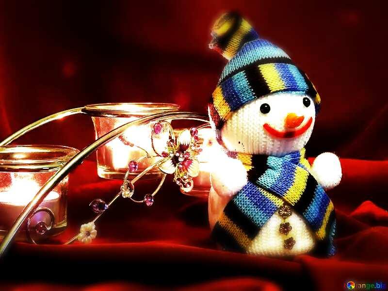 Merry Christmas snowman №15971