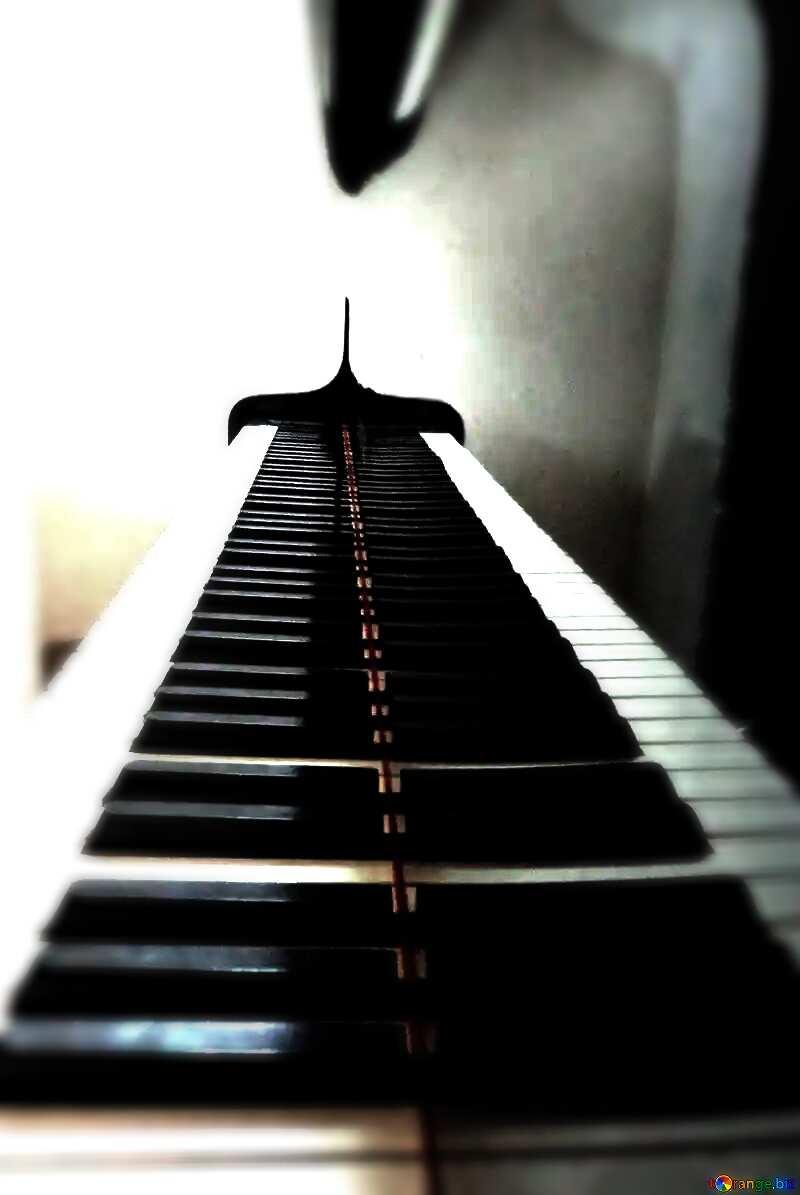 Piano keys frame №42949