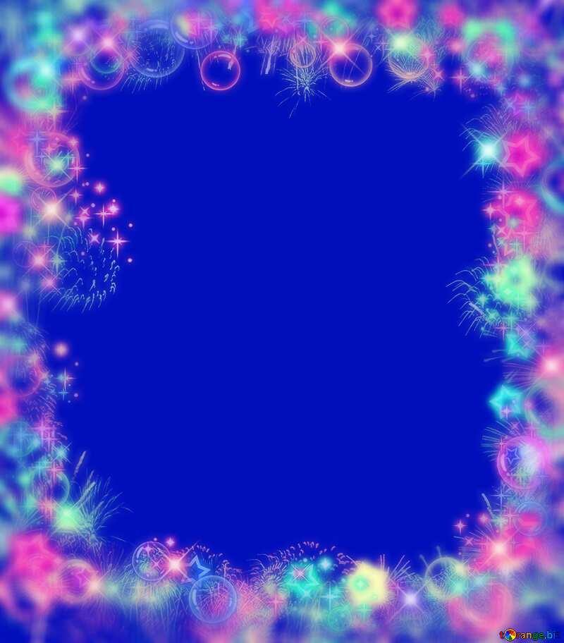 Frame multi-colored blur blue №39964