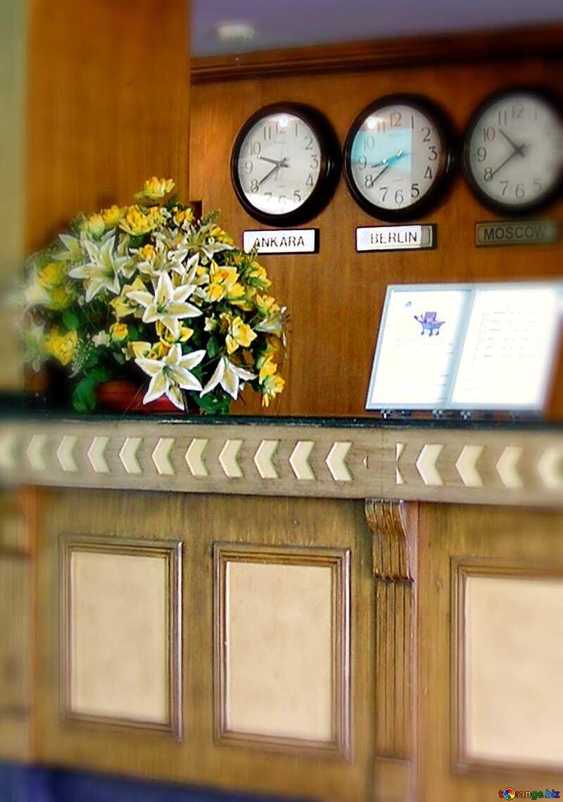 The hotel desk clock blur frame №21763