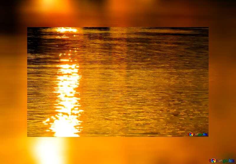 Golden water card №36402