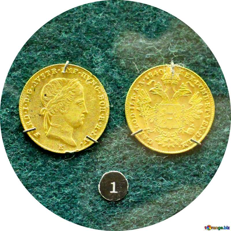 Vintage gold coin №43589