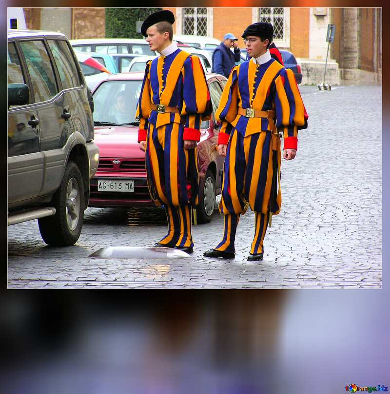 Swiss Guards blank card №309