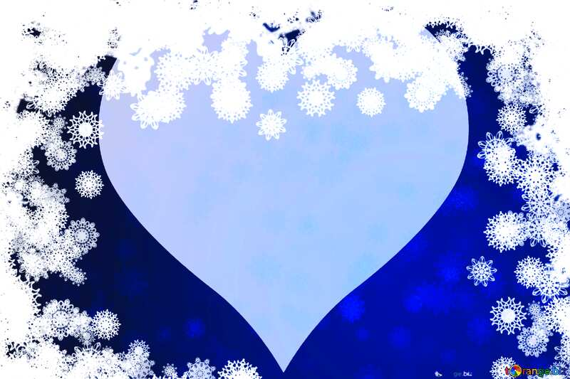 New year background with snowflakes  and heart №40728