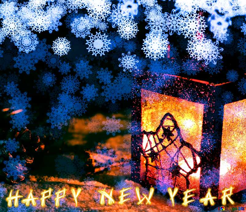 Christmas background happy new year text №40663