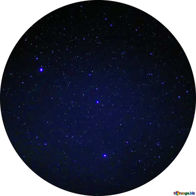 Starry sky circle frame №44731