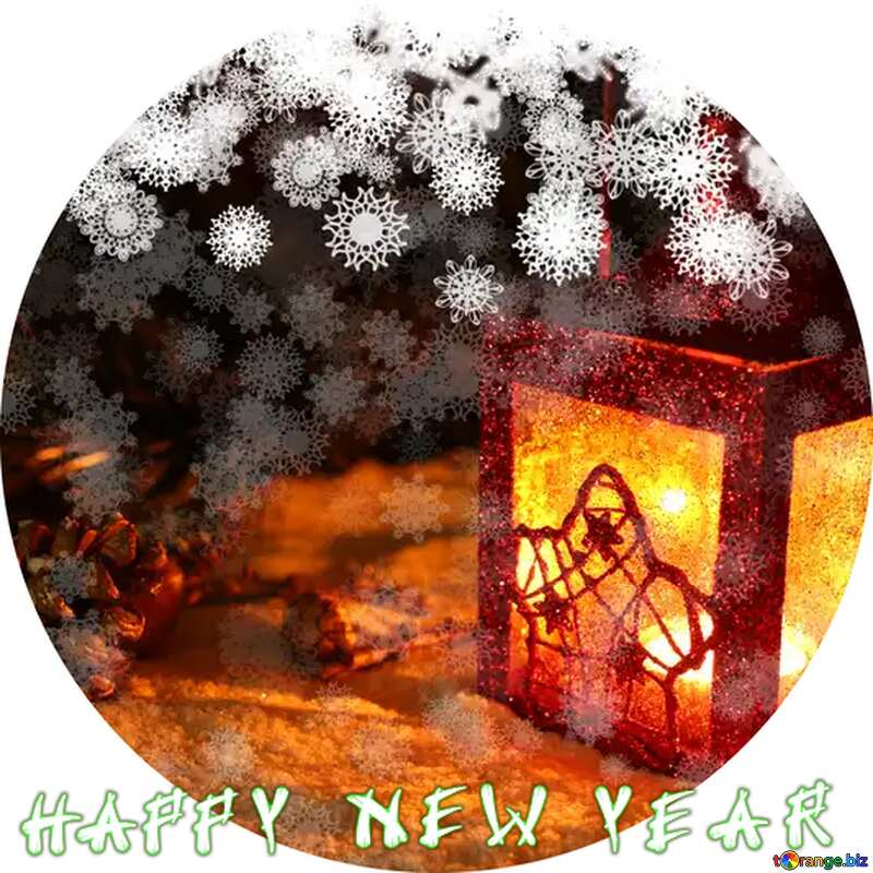 Christmas background circle frame happy new year №40663