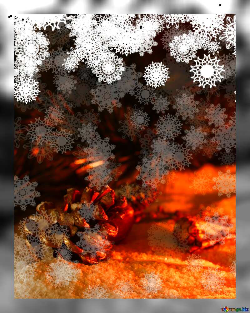 Christmas background fuzzy grey frame №40663