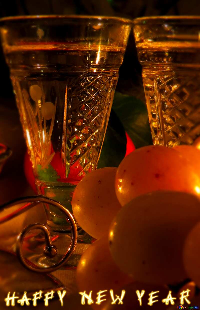 Happy new year dinner and glasses №15167
