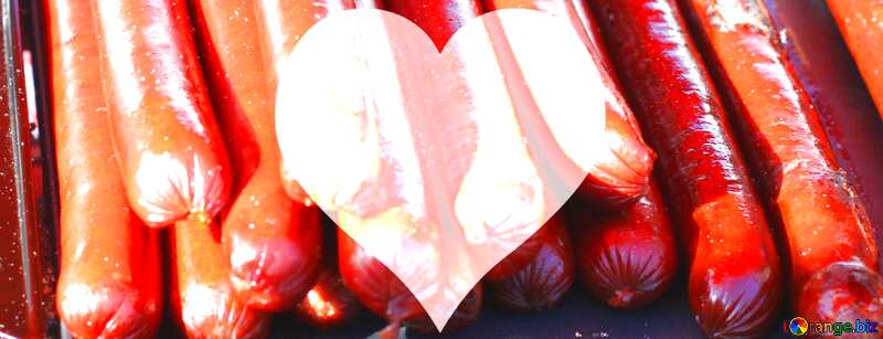 grill sausage love heart  template №47410
