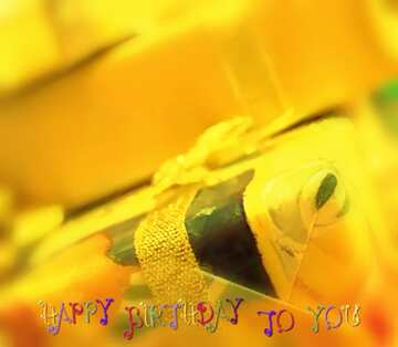 Die Wirkung von viel Licht. Unschärfe Rahmen. Bruchstück. Postkarte Alles Gute zum Geburtstag in Englisch.