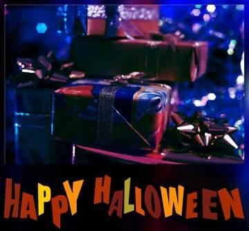 The effect of light. Blur dark frame. Happy halloween.