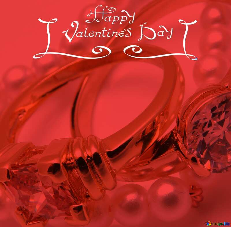 happy valentines day with jewelry and red screen №18273