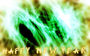 The effect of light. Blur frame. Fragment. Card with text Happy New Year.