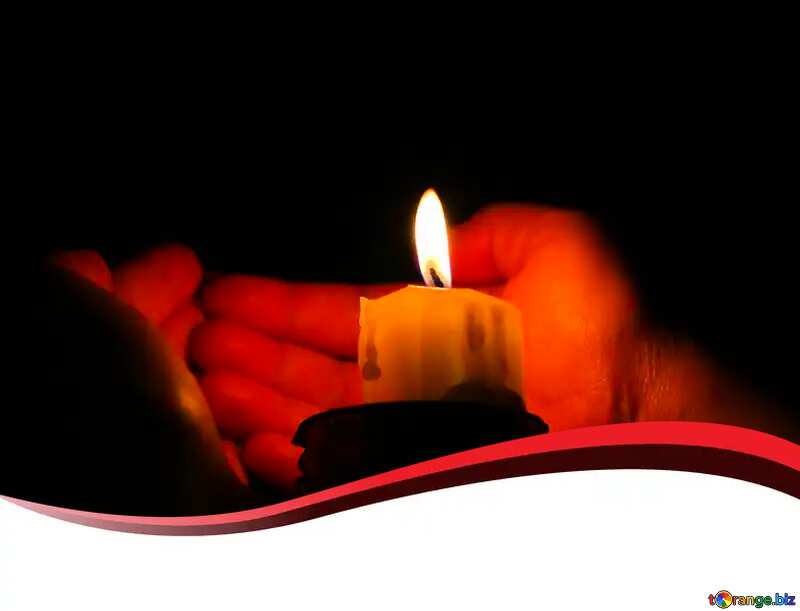 candle off the hands blank card template №18083