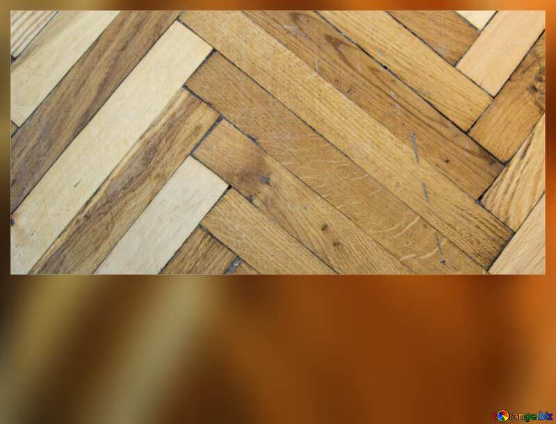 Parquet wood texture frame blank card №10858