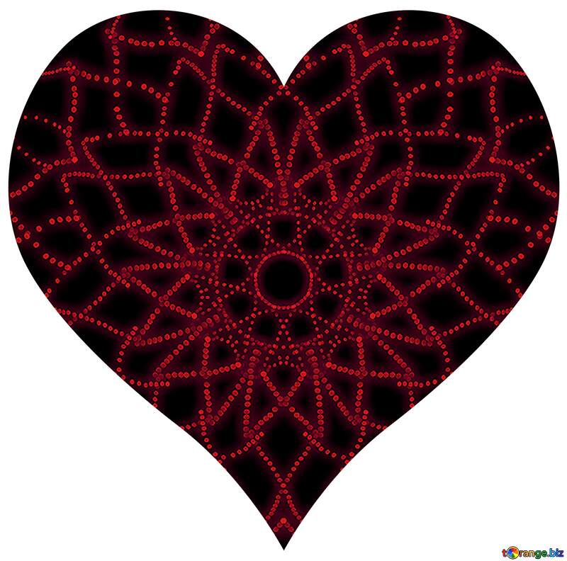 heart with red pattern №40089