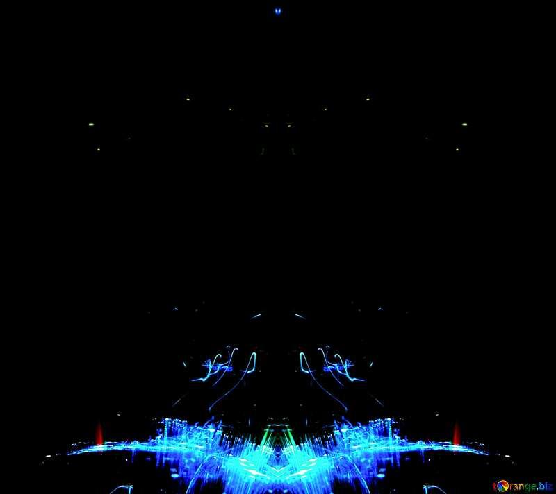 blue lights  background №25869
