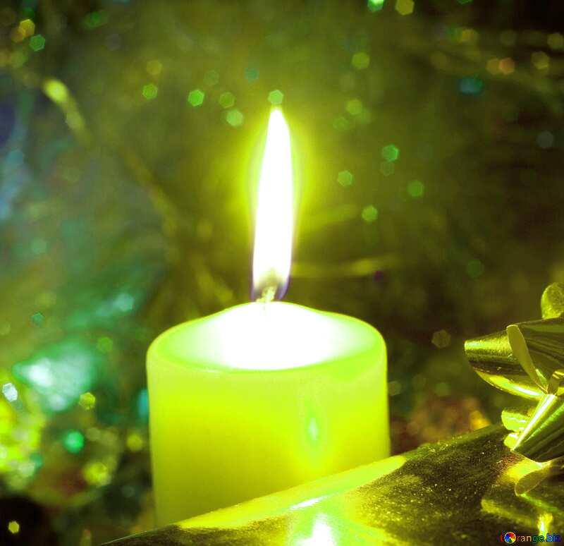 Новогодняя свеча №6620