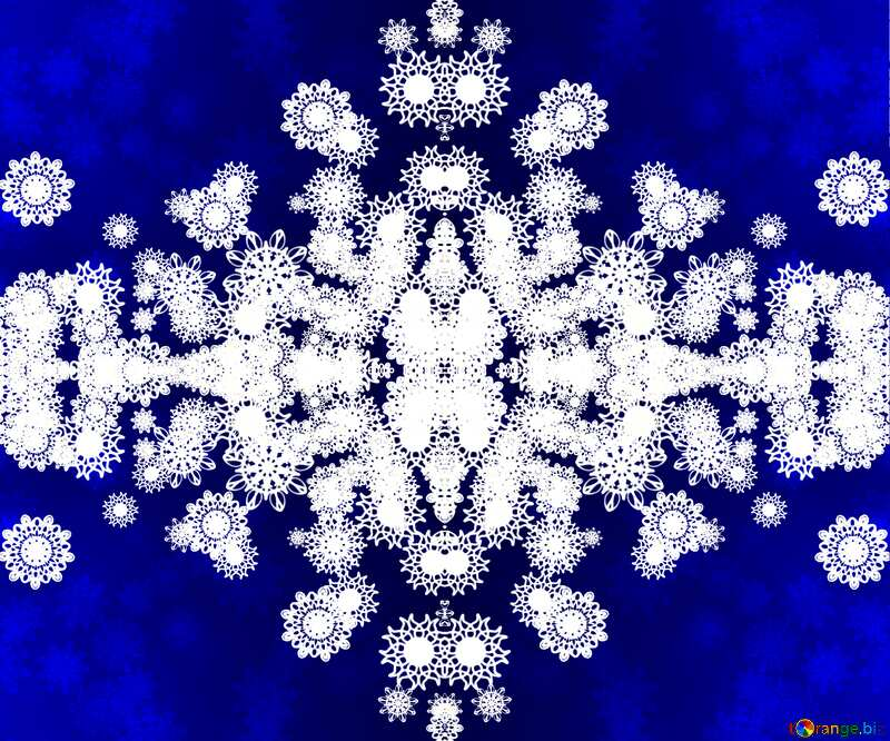 Blue Christmas pattern №40710