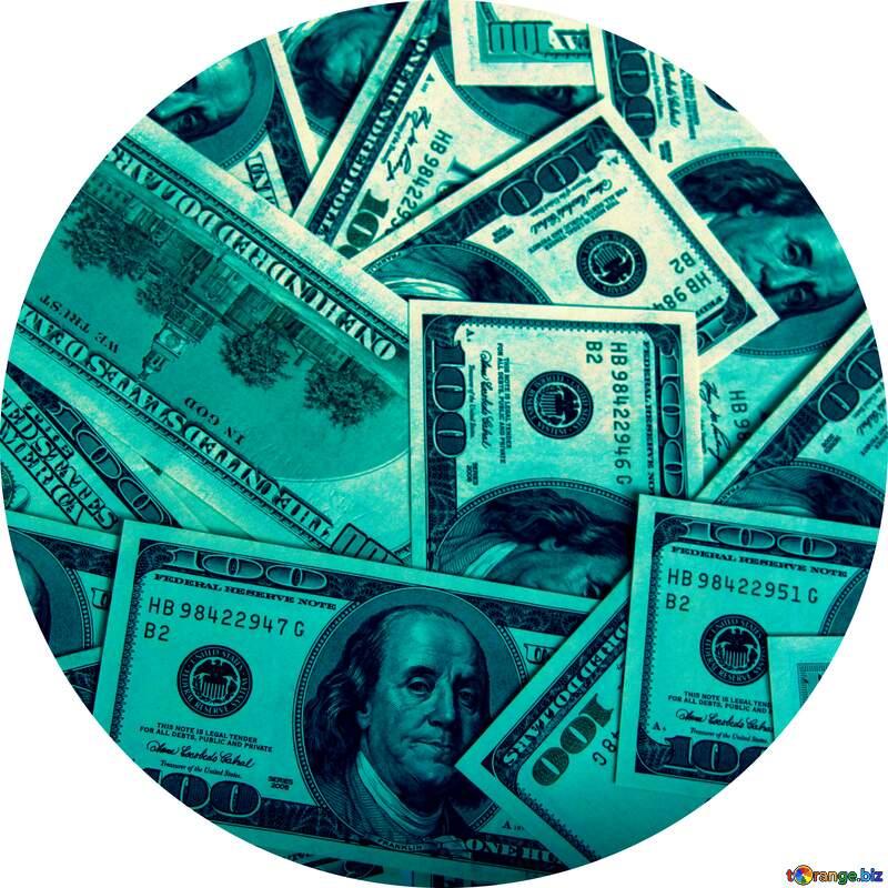 Dollars frame circle №1505