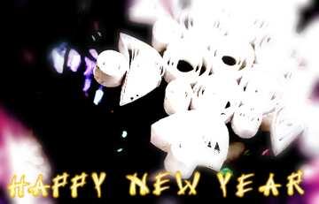 Эффект светлый. Эффект размытой рамки. Фрагмент. Card with text Happy New Year.