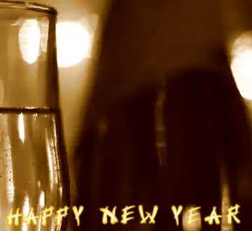 Эффект светлый. Эффект сепия. Фрагмент. Card with text Happy New Year.