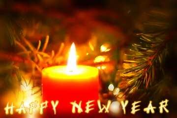 L'effetto del buio. I colori molto vivaci. telaio sfocatura. Card with text Happy New Year.