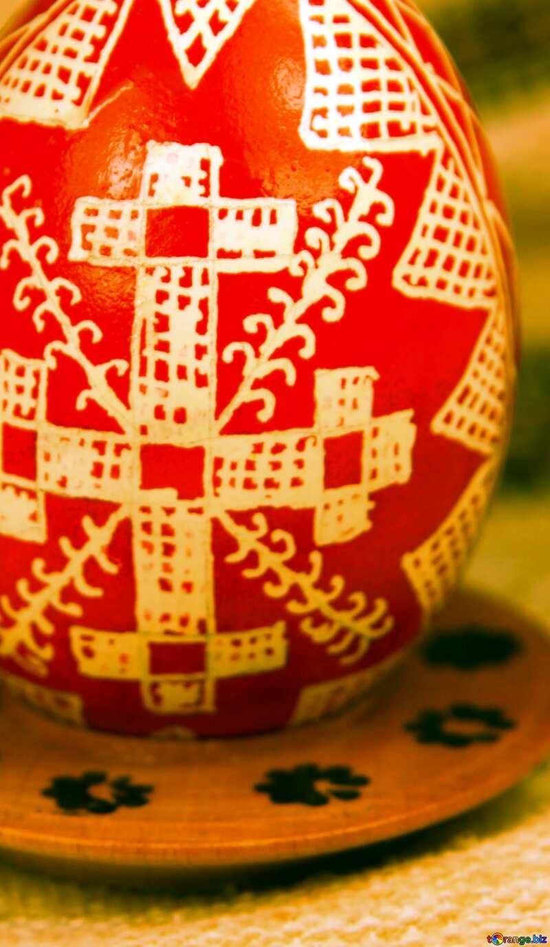 Easter egg. cross sign №4370