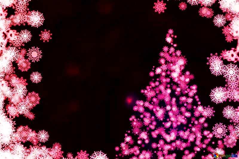 red snowflakes Christmas tree №40697