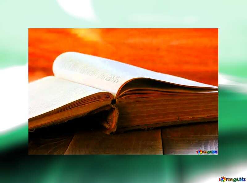 Open book grey fuzzy border №33988