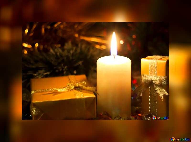 Christmas candle  desktop wallpaper №6684