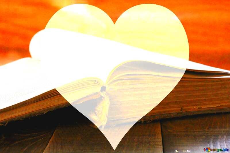 Open hazy image book heart №33988