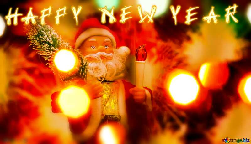 New Year`s background santa claus №48169