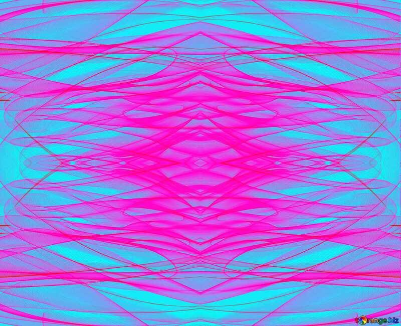 Lines pink and blue fractal  background №40618