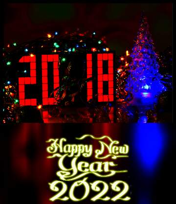 The effect of the dark. Very Vivid Colours. Blur dark frame. Happy New Year 2020.