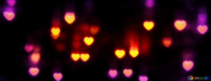 Hearts bokeh №37853
