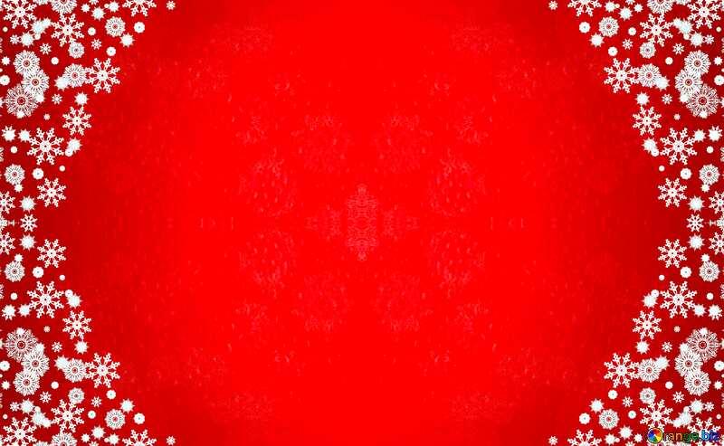 Red Christmas frame №40659